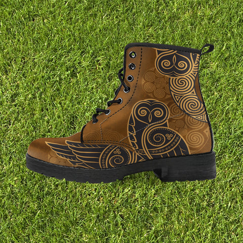 Mystic Owl With The Moon In Celtic Luxury Boots™ (Limited Quantity)