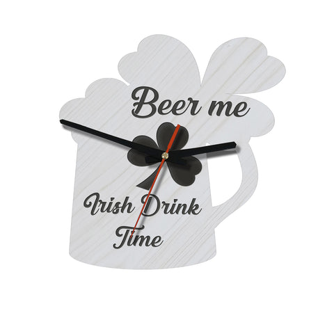 Beer me Irish Drink Time Wooden Wall Clock