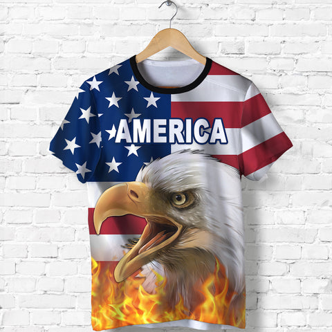 Image of American Eagle Flag T Shirt K8