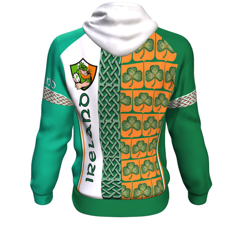 Ireland Rugby Champion Hoodie - Green Color - Back
