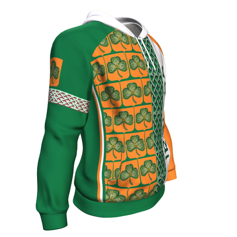 Ireland Vibes Hoodie - Green And Orange Color - Side 1