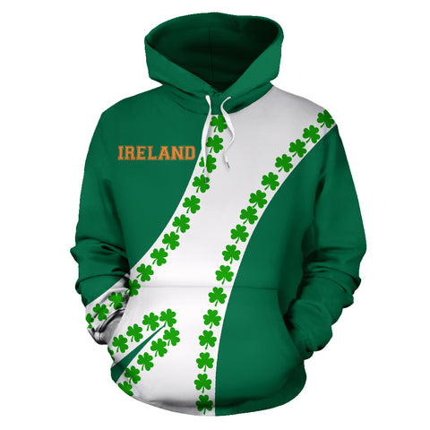 Ireland Hoodie Patterns Shamrock - Sports Style 02