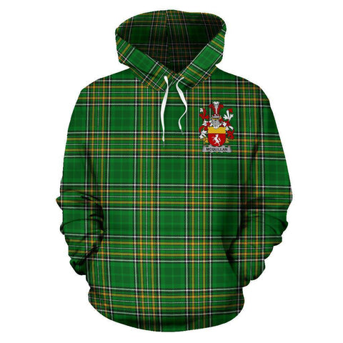 Quillan or McQuillan Ireland Hoodie Irish National Tartan (Pullover) A7