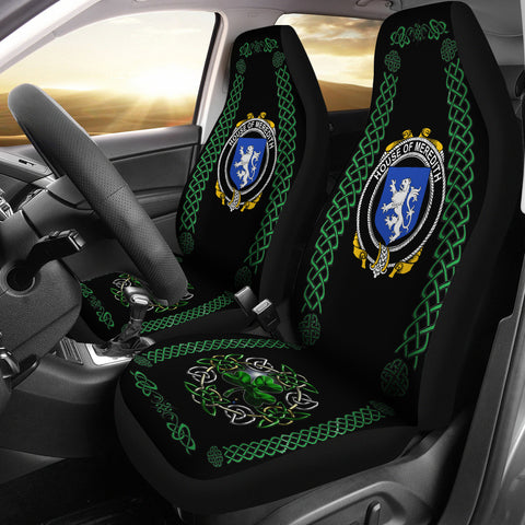 Meredith Ireland Shamrock Celtic Irish Surname Car Seat Covers | 1st Ireland