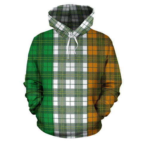 Image of Ireland Flag Tartan Style All Over Print Hoodie