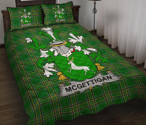McGettigan or Gethin Ireland Quilt Bed Set Irish National Tartan | Over 1400 Crests | Home Set | Bedding Set