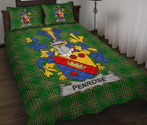 Penrose Ireland Quilt Bed Set Irish National Tartan | Over 1400 Crests | Home Set | Bedding Set