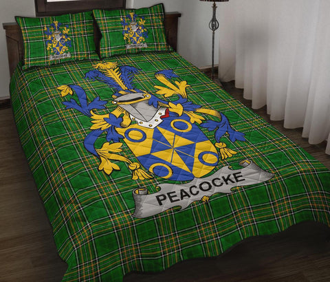 Peacocke Ireland Quilt Bed Set Irish National Tartan | Over 1400 Crests | Home Set | Bedding Set