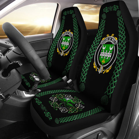 Image of Weld Ireland Shamrock Celtic Irish Surname Car Seat Covers | 1st Ireland