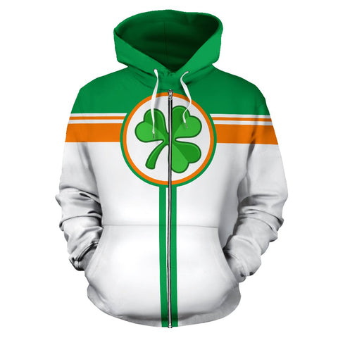 Ireland All Over Zip-Up Hoodie - Circle Style | 1stireland.com