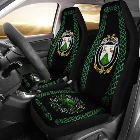 Image of Hawkins or Haughan Ireland Shamrock Celtic Irish Surname Car Seat Covers | 1st Ireland