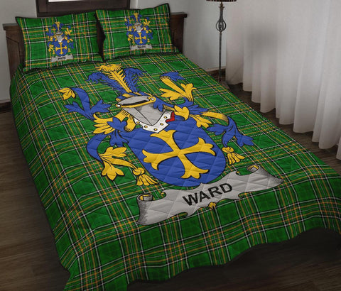 Ward Ireland Quilt Bed Set Irish National Tartan | Over 1400 Crests | Home Set | Bedding Set