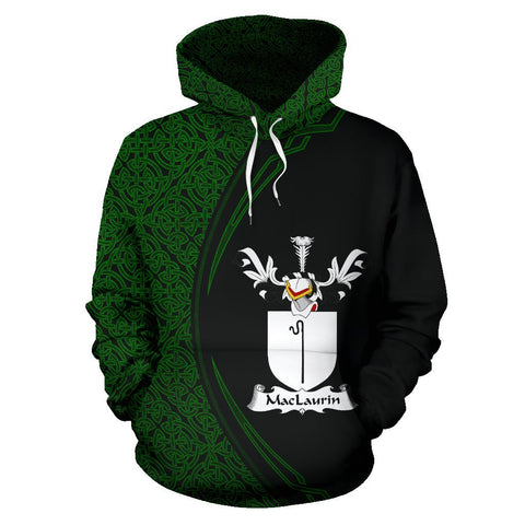 MacLaurin or McLaurin Family Crest Hoodie Irish Circle Style | 1st Ireland