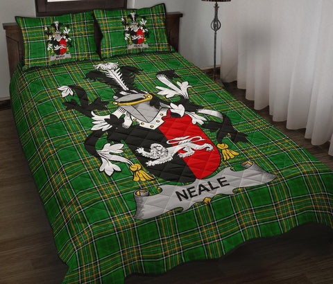 Neale Ireland Quilt Bed Set Irish National Tartan | Over 1400 Crests | Home Set | Bedding Set