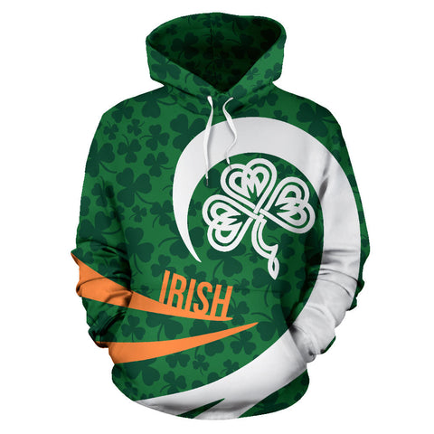 Irish Hoodie Shamrock Roll Into My Heart