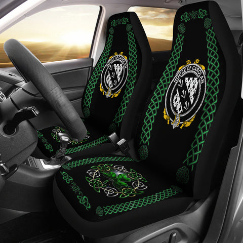 Image of Carolan Ireland Shamrock Celtic Irish Surname Car Seat Covers | 1st Ireland