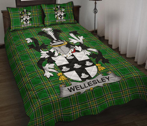 Wellesley Ireland Quilt Bed Set Irish National Tartan | Over 1400 Crests | Home Set | Bedding Set