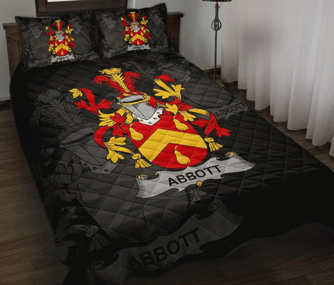 Irish Quilt Bed Set, Abbott Family Crest Premium Quilt And Pillow Cover A7