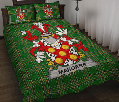 Image of Manders Ireland Quilt Bed Set Irish National Tartan | Over 1400 Crests | Home Set | Bedding Set