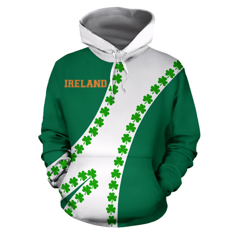 Ireland Hoodie Patterns Shamrock - Sports Style | 1stireland.com