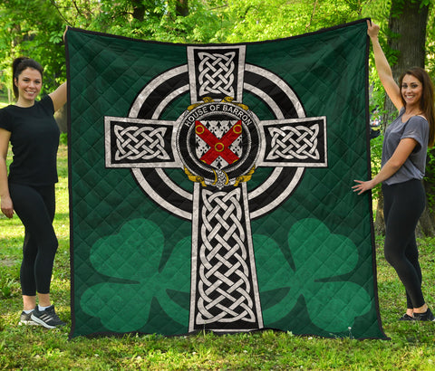 Irish Quilt, Barron Family Crest Premium Quilt TH47