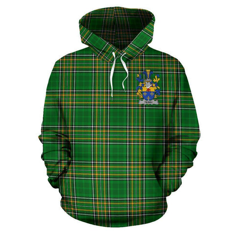 Terry Ireland Hoodie Irish National Tartan (Pullover) A7