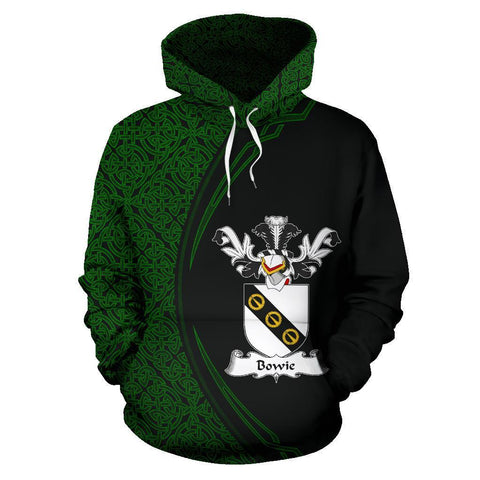 Image of Bowie Family Crest Hoodie Irish Circle Style | 1st Ireland