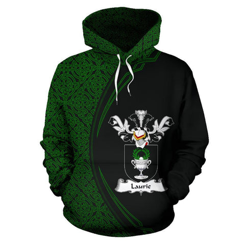 Laurie or Lawrie Family Crest Hoodie Irish Circle Style | 1st Ireland