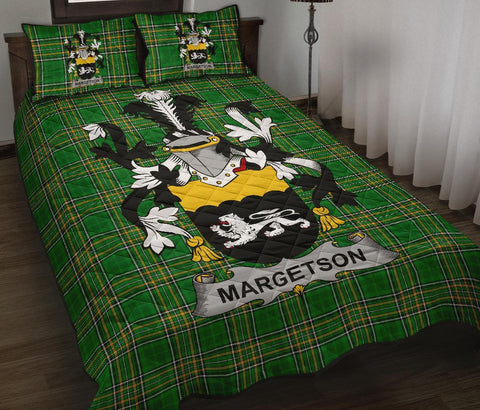 Margetson Ireland Quilt Bed Set Irish National Tartan | Over 1400 Crests | Home Set | Bedding Set