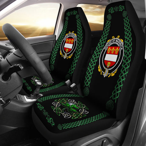 Image of Warwick Ireland Shamrock Celtic Irish Surname Car Seat Covers | 1st Ireland