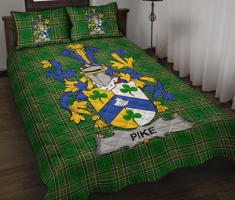 Pike Ireland Quilt Bed Set Irish National Tartan | Over 1400 Crests | Home Set | Bedding Set