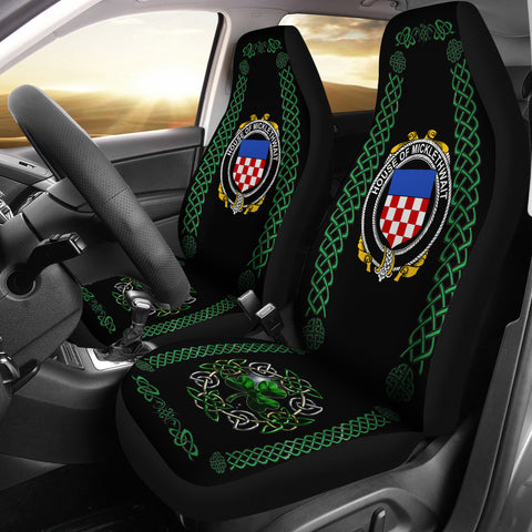 Micklethwait Ireland Shamrock Celtic Irish Surname Car Seat Covers | 1st Ireland