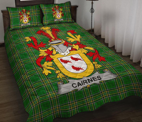Cairnes Ireland Quilt Bed Set Irish National Tartan | Over 1400 Crests | Home Set | Bedding Set