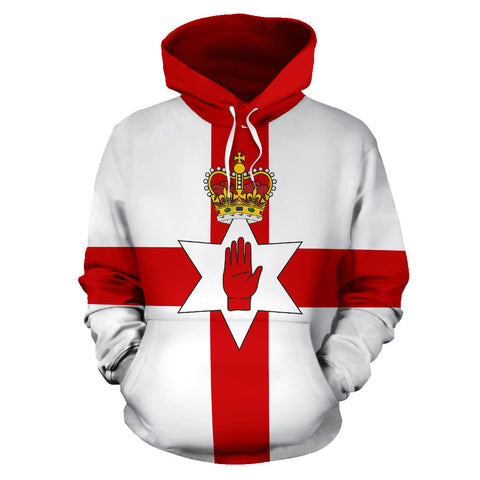 Northern Ireland Hoodie Flag  front