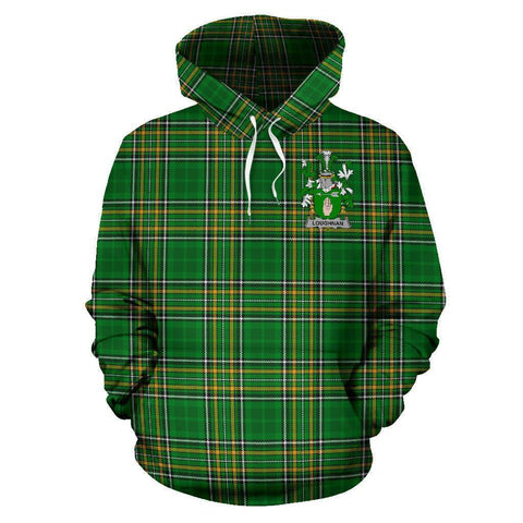 Loughnan or O'Loughnan Ireland Hoodie Irish National Tartan (Pullover) A7