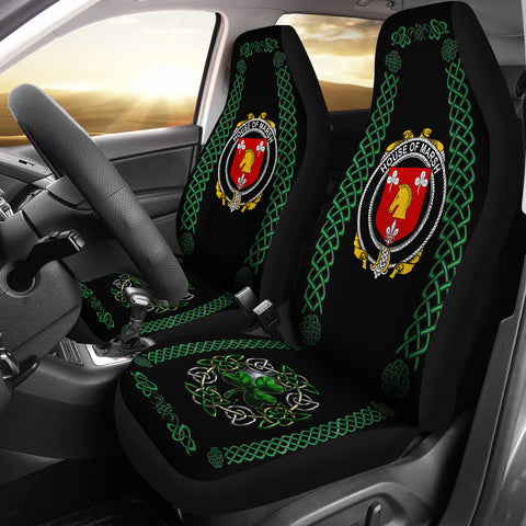 Image of Marsh Ireland Shamrock Celtic Irish Surname Car Seat Covers | 1st Ireland
