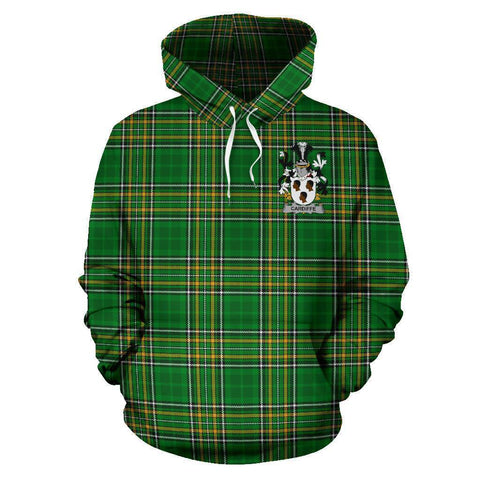 Cardiffe Ireland Hoodie Irish National Tartan (Pullover) A7