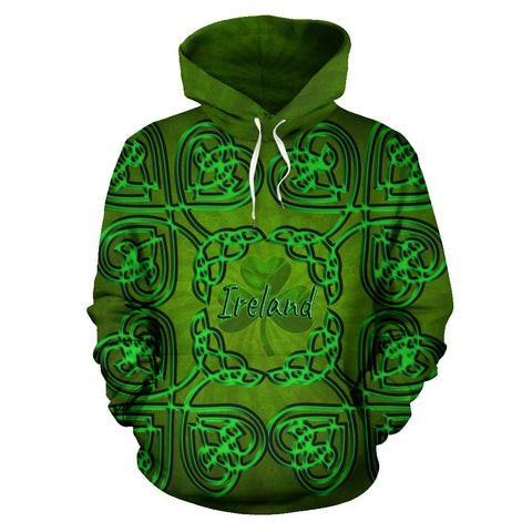 Ireland Shamrock Hoodie Ireland All Over Hoodie Celtic Shamrock St, Patrick's Day TH5