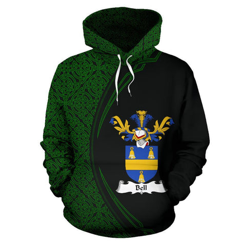 Image of Bell Family Crest Hoodie Irish Circle Style | 1st Ireland
