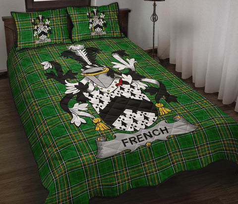 French Ireland Quilt Bed Set Irish National Tartan | Over 1400 Crests | Home Set | Bedding Set