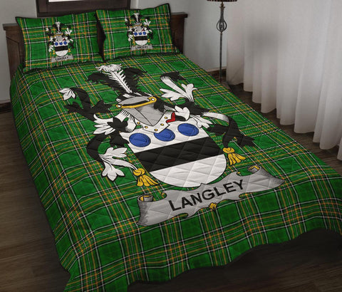 Langley Ireland Quilt Bed Set Irish National Tartan | Over 1400 Crests | Home Set | Bedding Set