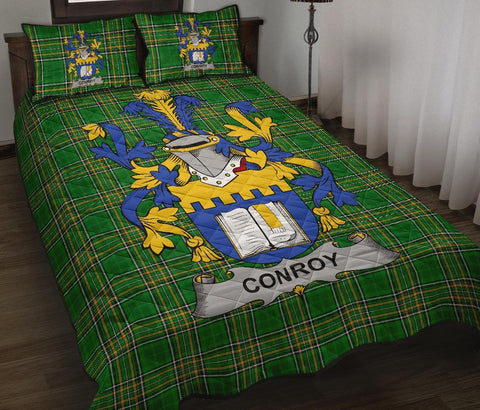 Conroy or O'Mulconroy Ireland Quilt Bed Set Irish National Tartan | Over 1400 Crests | Home Set | Bedding Set