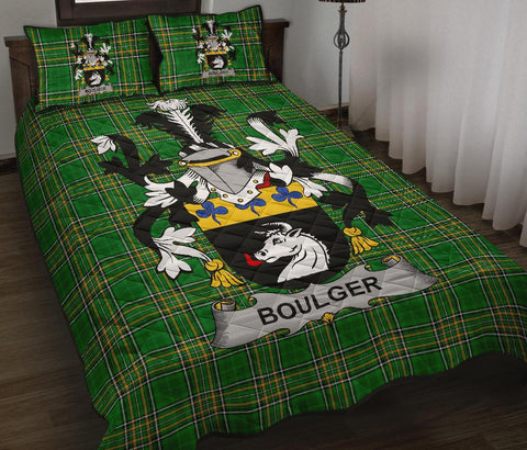 Image of Boulger or O'Bolger Ireland Quilt Bed Set Irish National Tartan | Over 1400 Crests | Home Set | Bedding Set