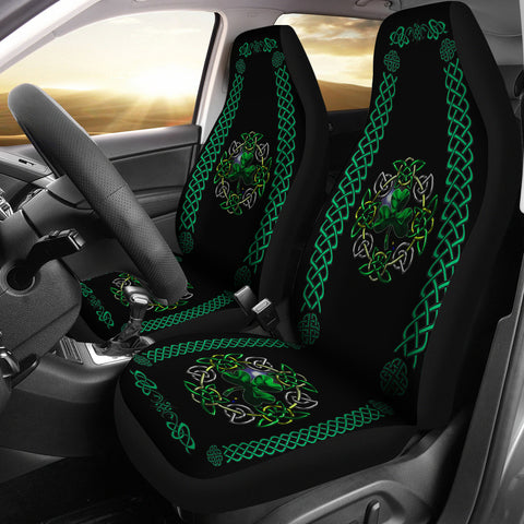 Celtic Shamrock Car Seat Cover