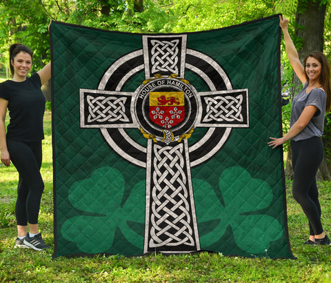 Irish Quilt, Hamilton Family Crest Premium Quilt TH47