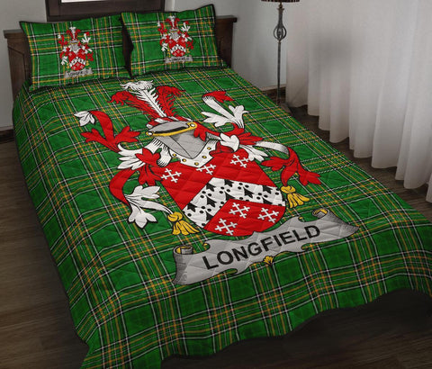 Longfield Ireland Quilt Bed Set Irish National Tartan | Over 1400 Crests | Home Set | Bedding Set