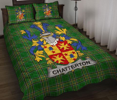 Chatterton Ireland Quilt Bed Set Irish National Tartan | Over 1400 Crests | Home Set | Bedding Set