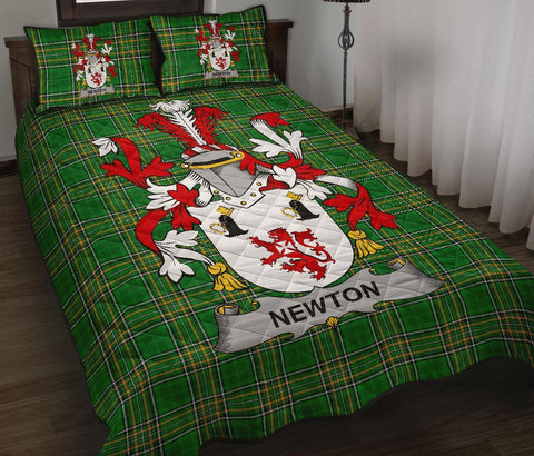 Image of Newton Ireland Quilt Bed Set Irish National Tartan | Over 1400 Crests | Home Set | Bedding Set