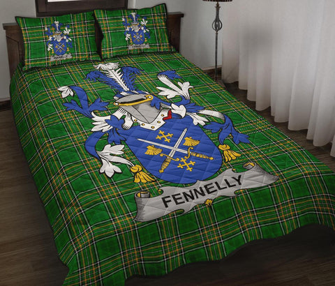Fennelly or O'Fennelly Ireland Quilt Bed Set Irish National Tartan | Over 1400 Crests | Home Set | Bedding Set
