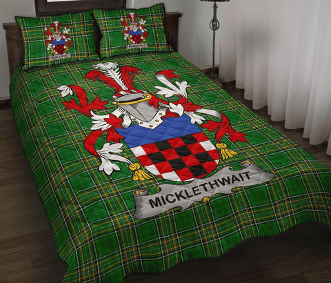 Micklethwait Ireland Quilt Bed Set Irish National Tartan | Over 1400 Crests | Home Set | Bedding Set